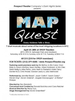 Nyc Map Quest.Map Quest At Prospect Theatre Company Julia Meinwald Composer